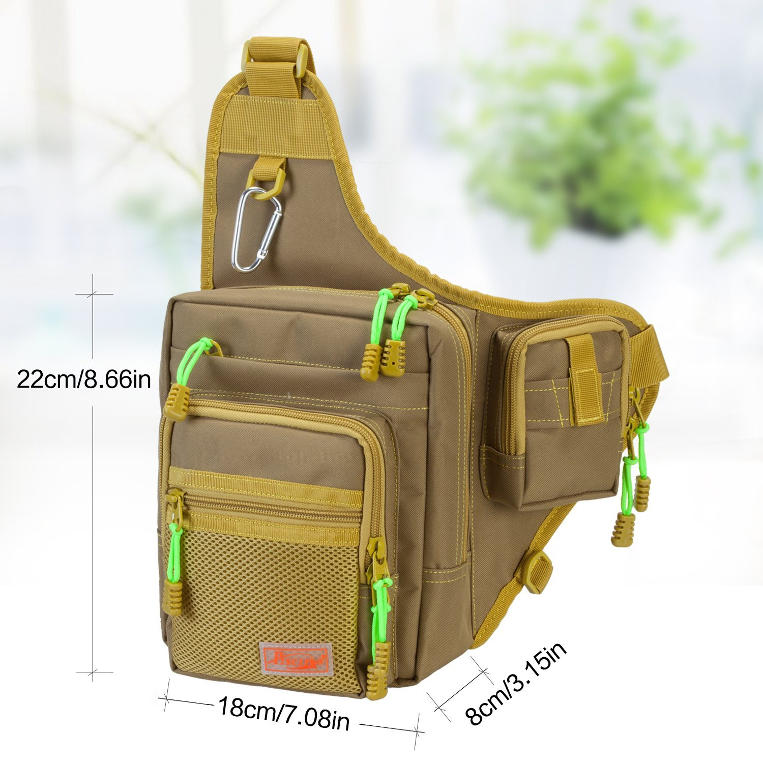 Piscifun Sports Shoulder Fishing Tackle Bag