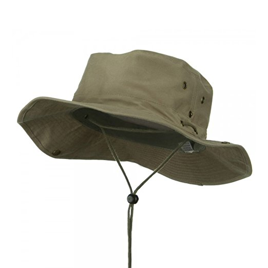 MG Men's Brushed Aussie Side Snap Chin Cord Hat