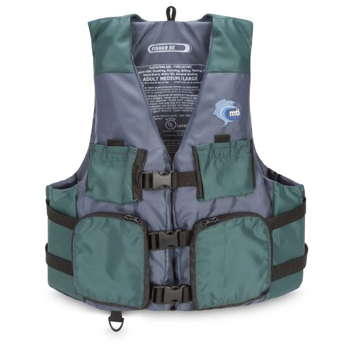 MTI Adventurewear Kayak Fishing PFD Life Jacket