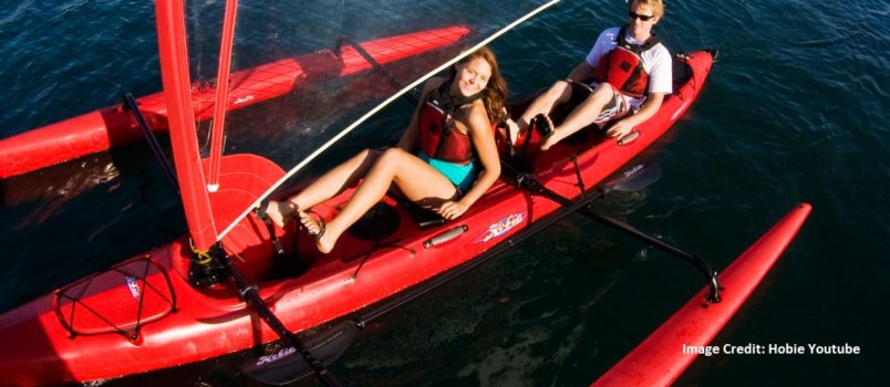 kayak and stabilizer